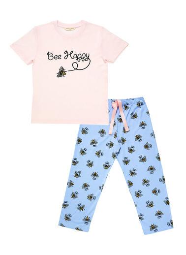 Katia & Bony Bee Love Kız Çocuk Pijama Set  Pembe